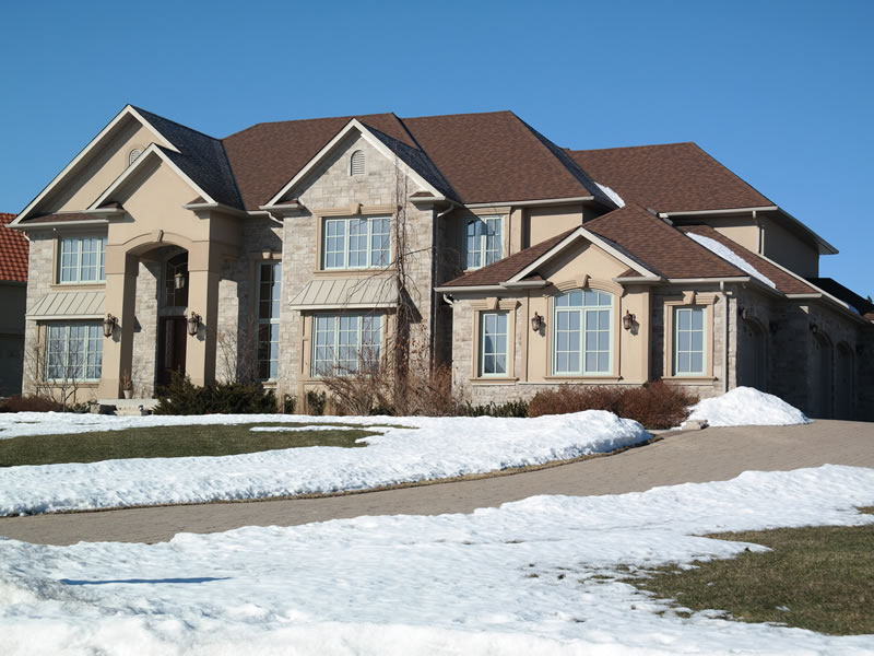 Home with Window Film for energy savings